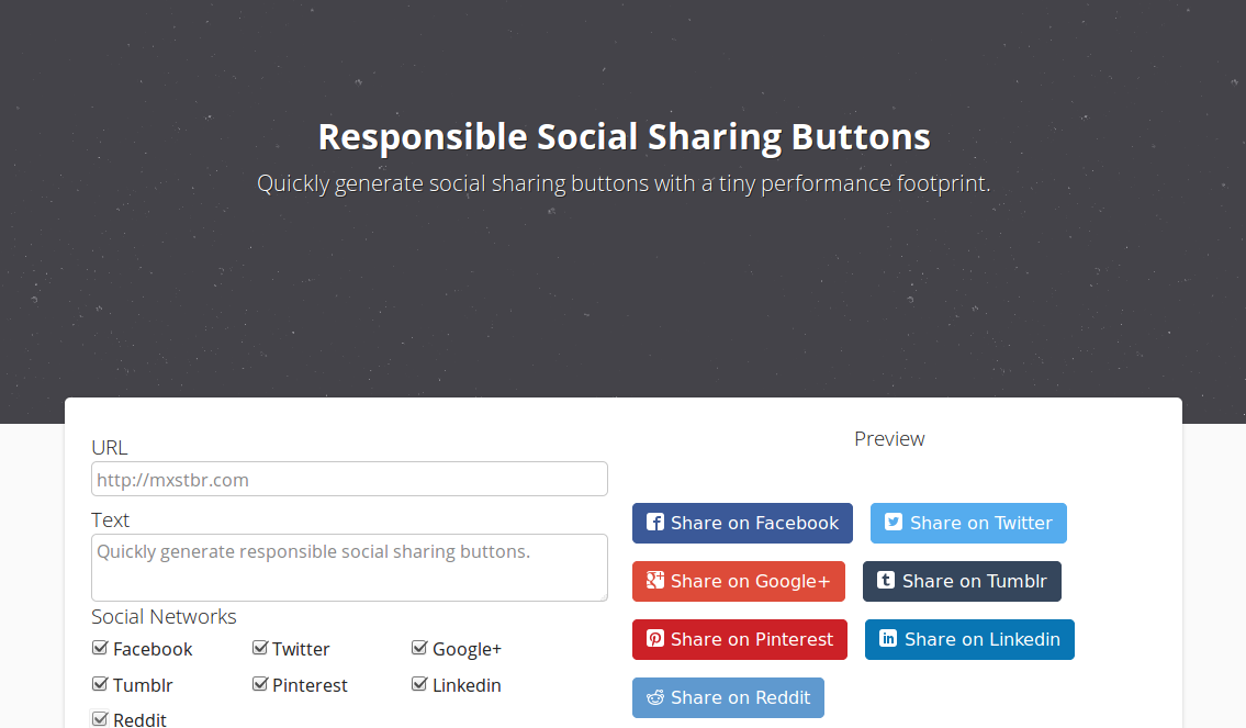 Responsible Social Sharing Buttons